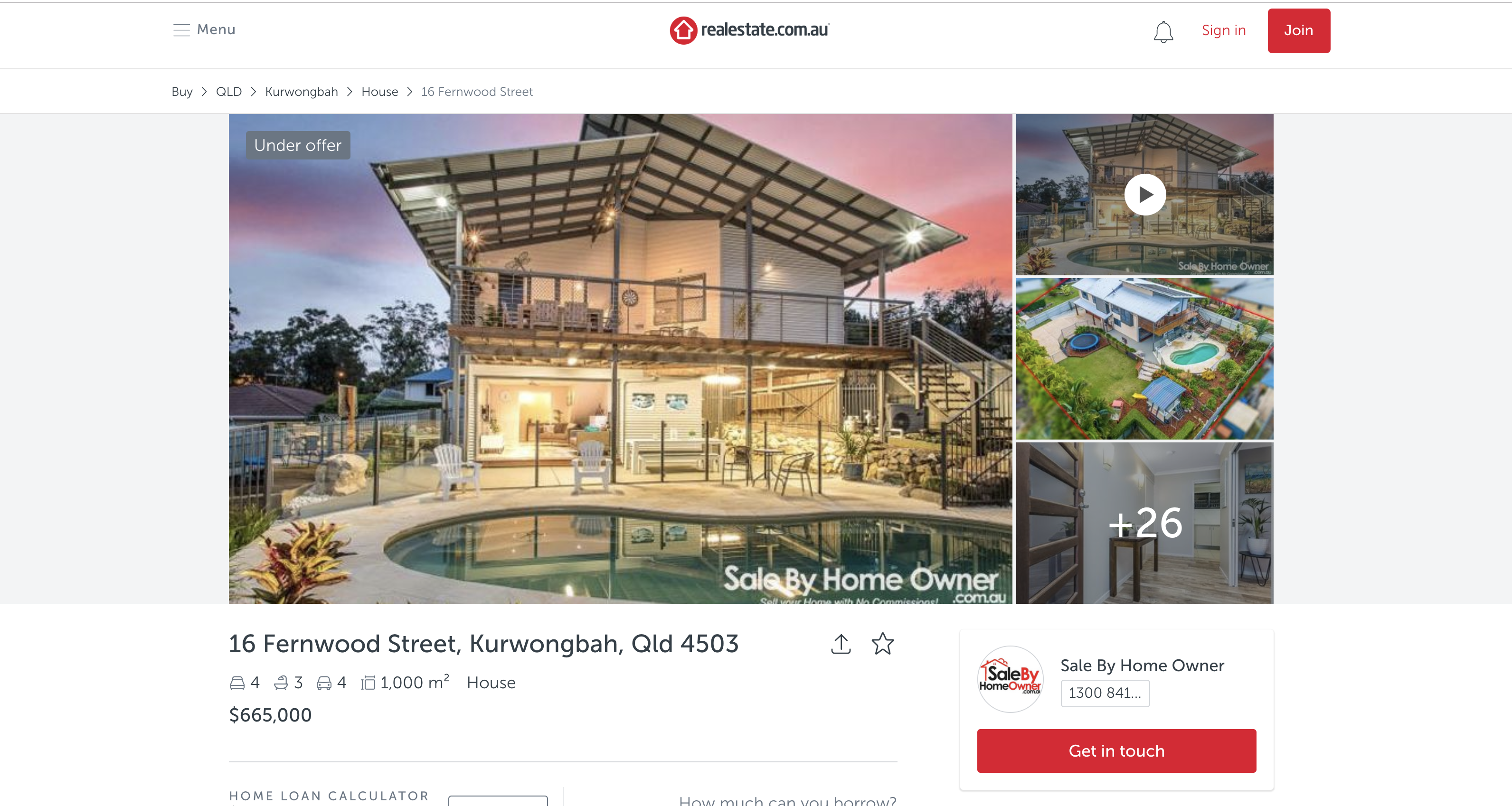 Privately advertising real estate online